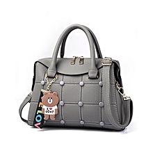 2a49340a43 Handbag Simple Lady Bag Straddle Lady Bag Obliquely - Grey
