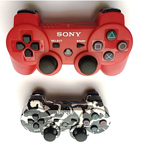 PS3 Wireless Pad - Camo And Red