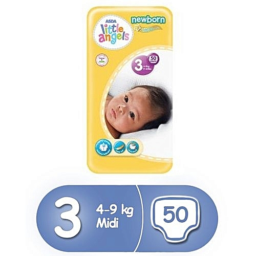 Little Angels Newborn Diapers Size 3 50 Count