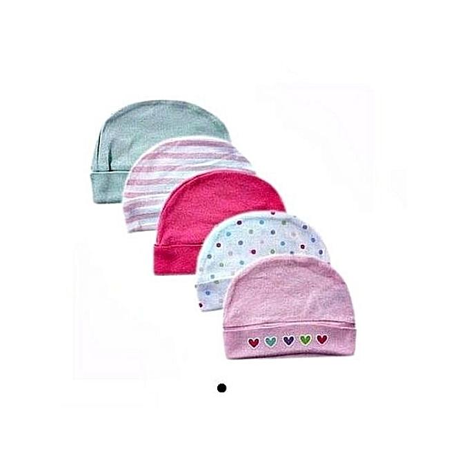 Luvable Friends Baby Caps Gift Set Of 5 Multicolour Design  5d7c8651422