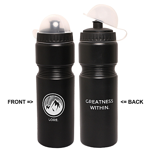 70cl Greatness Within Water Bottle - Black