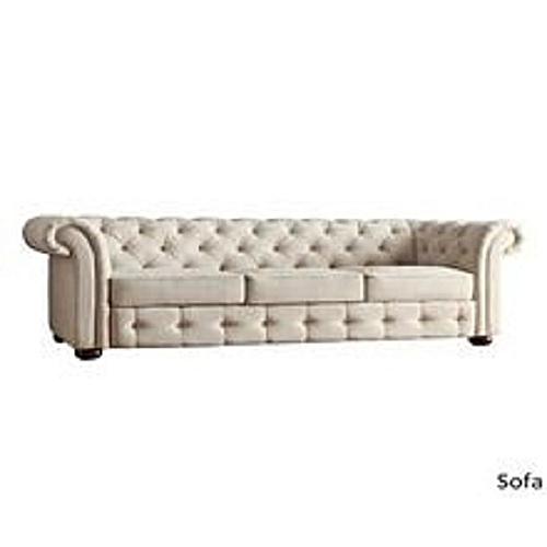 Alfredo Beige 3seater Sofa