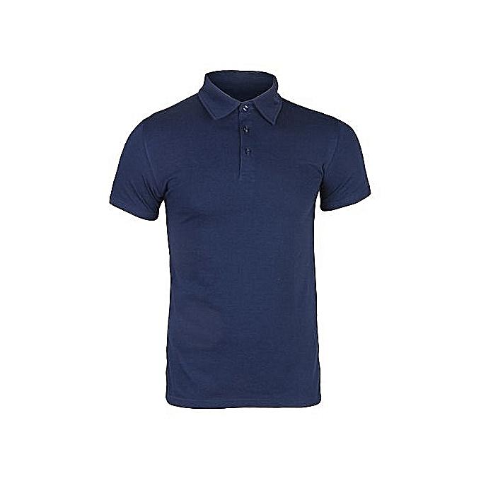 5a9ea5af8868ac Mce Collar Neck T-Shirt - Navy Blue | Jumia NG