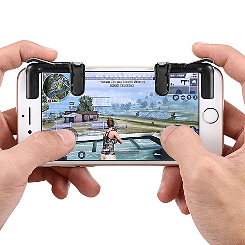 Phone Game Fire Button Trigger Shooting Controller BLACK