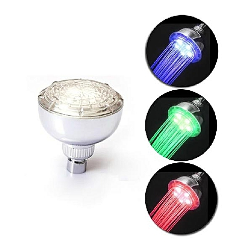 LED Multi-color RGB Automatic Temperature Sensor Bath Top Shower