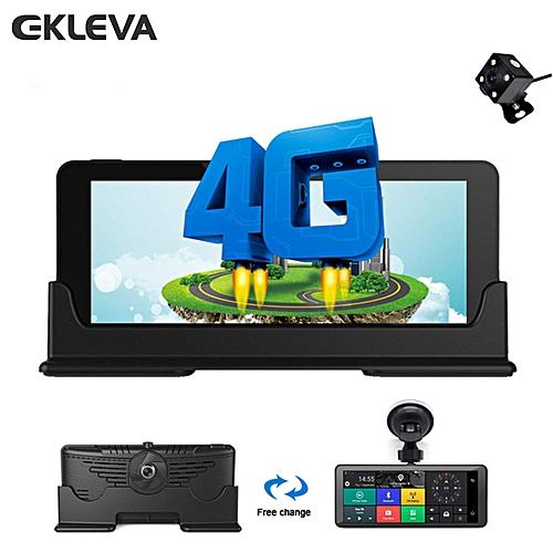 EKLEVA 1080P HD 4G WiFi Car DVR Camera Android 5.1 GPS Navigation ADAS Remote Monitor Camcorder Dual Len Dash Cam