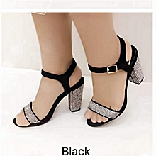 c0e3e0a80dbf Fashion Women Unique Heel Sandals -Black