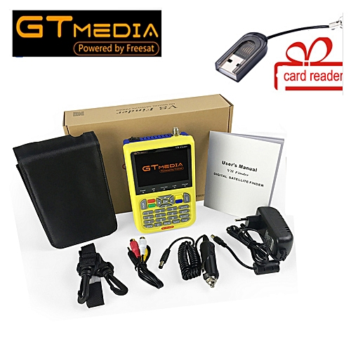 Freesat V8 Finder Digital Finder 3.5 Inch LCD Digital SatFinder DVB-S2 MPEG-4 GTMEDIA Satellite