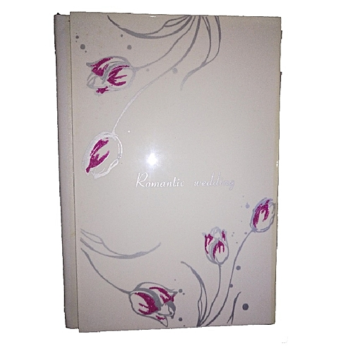 Romantic Rose Leather Photo Album - A4 NoteBook Style