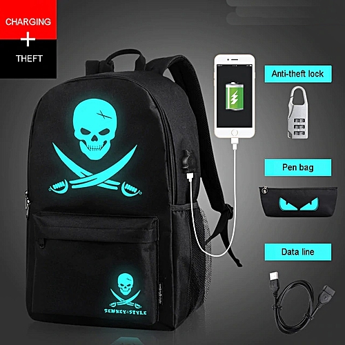 Anti Theft Computer Backpack, Outdoor Backpack, Travel School Bags With USB Charging & Coded Lock