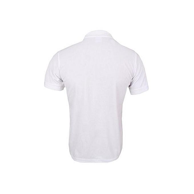 Fashion Plain White Polo T-Shirt | Jumia.com.ng