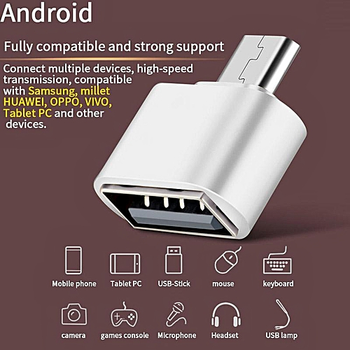 (2pcs)(buy 1 Take 1) Type C To USB OTG Adapter Converter Plug High Speed For Android (random Color)