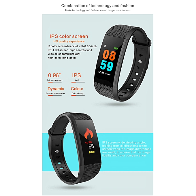 Smart Fitness Tracker Blood Pressure Monitor IP68 Waterproof Heart Rate  Pedometer Colorful Screen Fit Watch Calorie Sleep Monitor Smart Watch  Activity