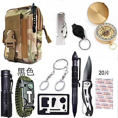 30 In 1 Tactical Survival Emergency Tools Bag Outdoor Soft Relief Kit