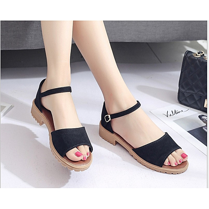 be46b4c1a9a6 Fashion New Classic Ladies Wedge Sandals Women Shoes-Black