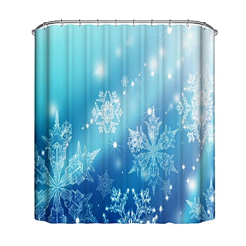 Dtrestocy Christmas Waterproof Polyester Bathroom Shower Curtain Decor With Hooks New H