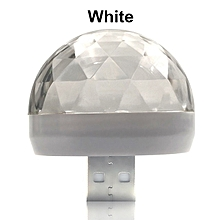 Used, USB DC5V Colorful Stage Light Music Control Car Decoration Atmosphere Lamp Voice Control Ktv Dj Disco Lights   IPhone Android(White)(type C  Android) for sale  Nigeria