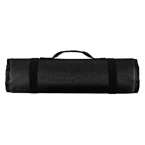 Chef Knife Bag Roll Bag Carry Case Bag Kitchen Cooking Portable Durable Storage[Black]