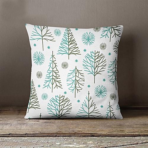 Christmas Rectangle Cushion Cover Silk Throw Pillow Case Pillowcase