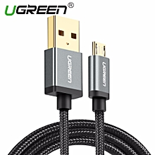 1Meter Micro USB Cable Nylon Braided Fast Quick Charger Cable USB To Micro USB 2.0 Fast