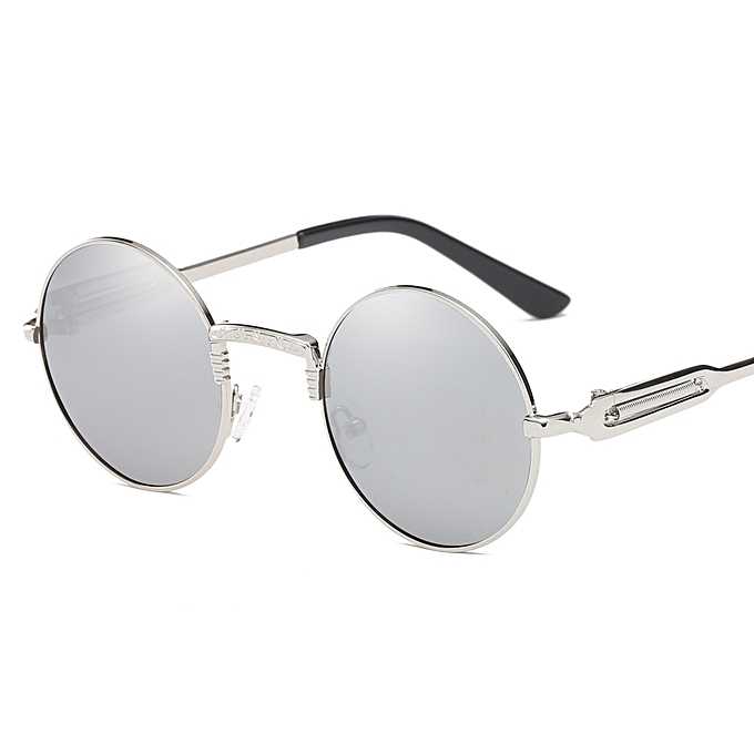 9b76fbb90 Fashion Sunglasses Unisex Retro Resin Lenses Round Metal Frame UV400 ...