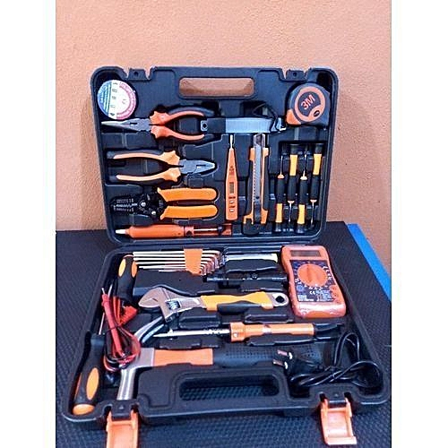 COMPLETE SET OF ELECTRICAL TOOLS BOX FOR HOME REPAIRING TOOLS KIT