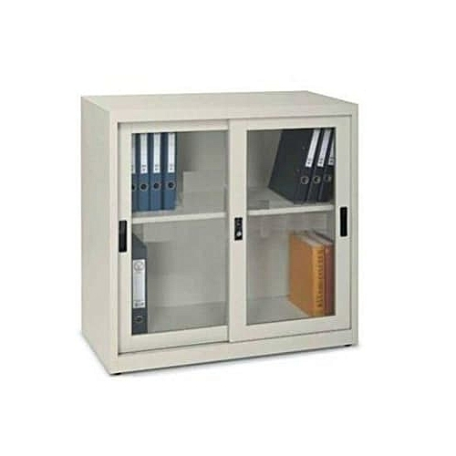 Half Height Cupboard With Sliding Glass Doors