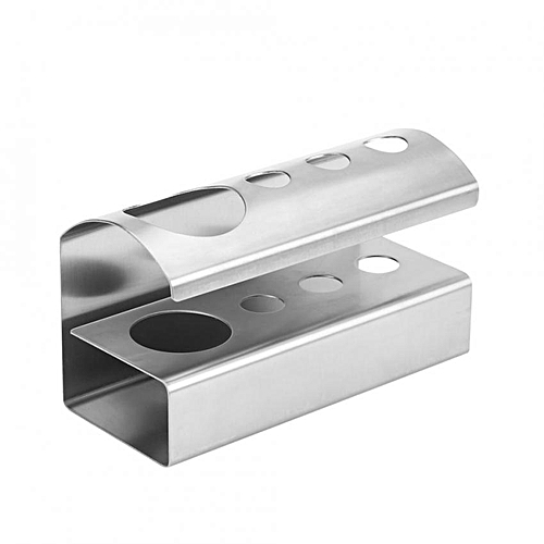 Stainless Steel 4 Position Toothbrush Holder Stand Toothpaste Bathroom Organizer