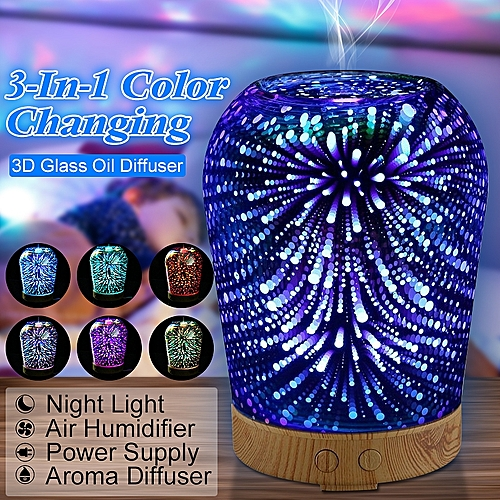 3D Starry Light Essential Oil Aroma Diffuser Ultrasonic Humidifier Aromatherapy