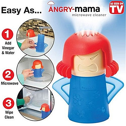 Kitchen Clean Tool Angry Mama Microwave Oven Steam Cleaner