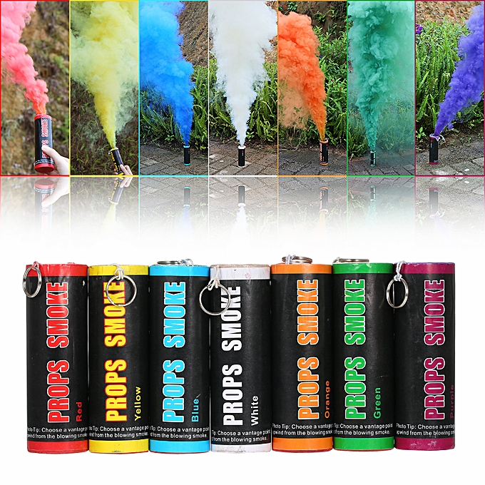 Colorful Smoke Effect Show Smoke Photography Prop Pull Ring Type Color  Smoke Tube Bomb Film Special Prop Outdoor Scene Advertising Background Smoke