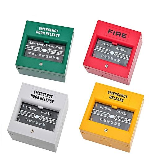 Emergency Door Release Fire Alarm Swtich Break Glass Exit Release Switch Glass Break Alarm Button