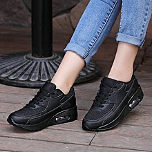 Ms Leisure Non-slip Sports Shoes Air Cushion Running Shoes-Black for sale  Nigeria