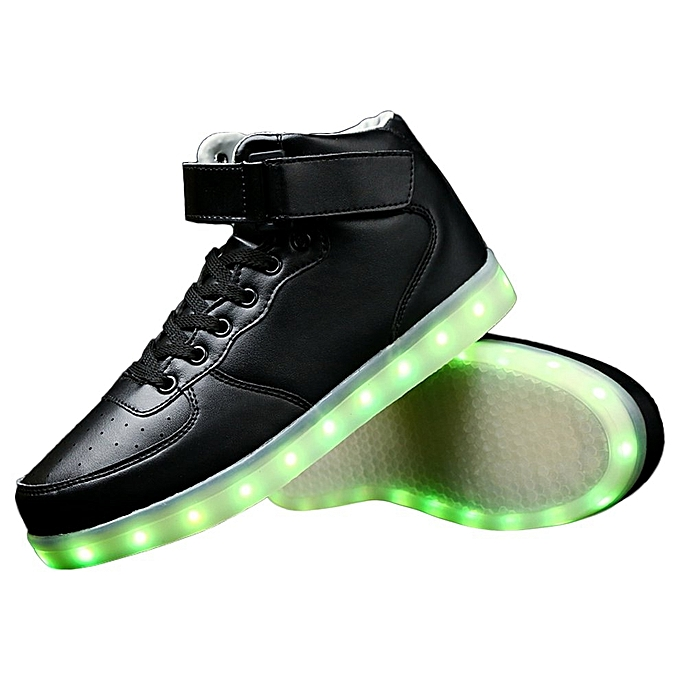 a2406a8897 ... Men LED Lighting High Top Light Up Shoes Flashing USB Charging Lace-up  Shoes ...