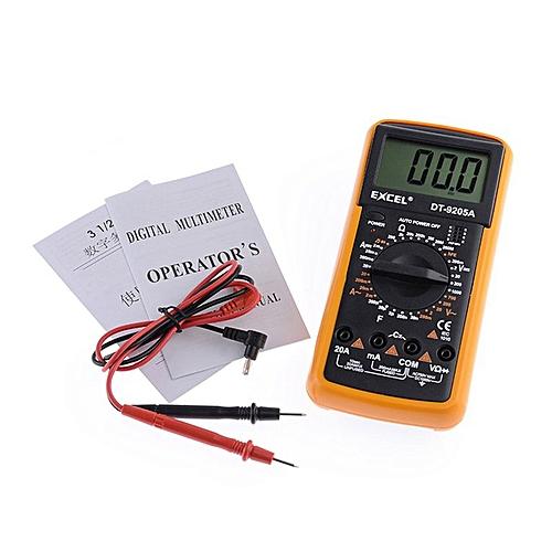 DT9205A AC DC LCD Display Professional Electric Handheld Tester Meter Digital