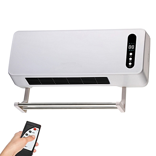 2000W Wall Mounted Electric Fan Heater Space Timing Air Purification Conditioner