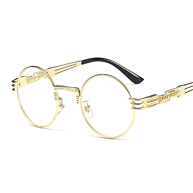 5fb2a9825e9 Fashion Gold Round Frames Eyeglasses For Women Vintage Steampunk Round  Glasses Frames For Men Male-