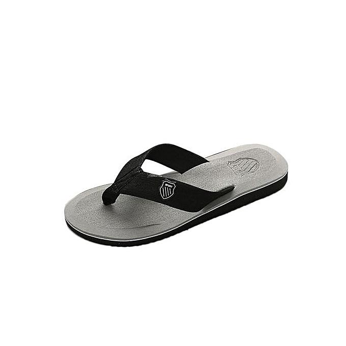 243f77e0083a Men's Flip-flops Slippers Beach Sandals Indoor&Outdoor Grey