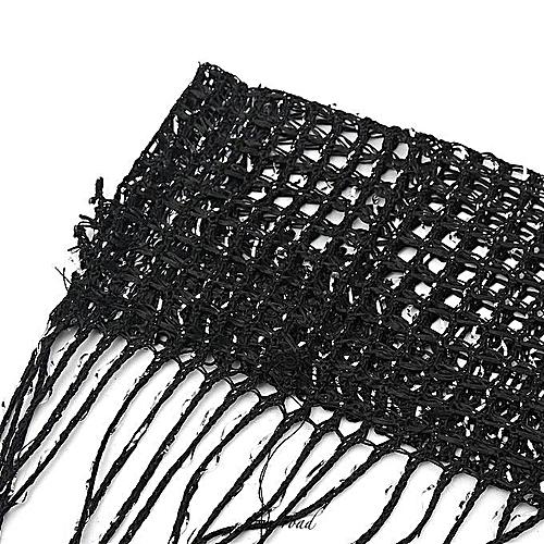 String Door Curtain Beads Window Panel Room Divider Crystal Tassel Fringe Beaded #black