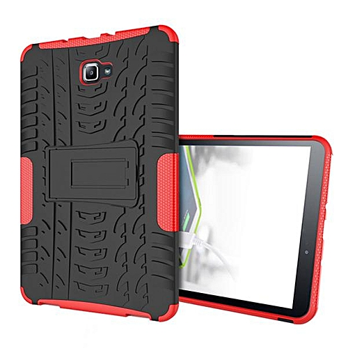 Shock Hybrid Case Stand Cover Case For Samsung Galaxy Tab A 10.1 2016 T580 RD