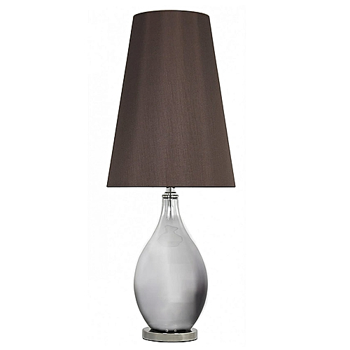 Brown Silver Glass Table Lamp