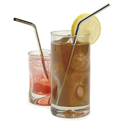 Stainless Steel Curved Drinking Straw Reusable Coffee Cocktail Straw