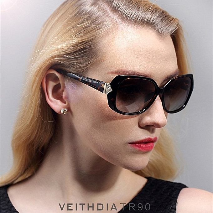 bd7a42b800c VEITHDIA Vintage Large Sun Glasses Polarized Carved Diamond Ladies  Sunglasses Outdoor Eyewear Accessories 7011 (Color