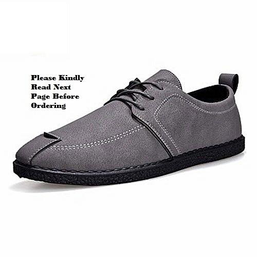 Men's Shoe-----Bespoke Top-Notch Men's Casual Shoe---GREY