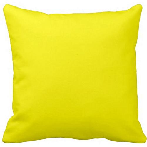 Plain Yellow Throw Pillow