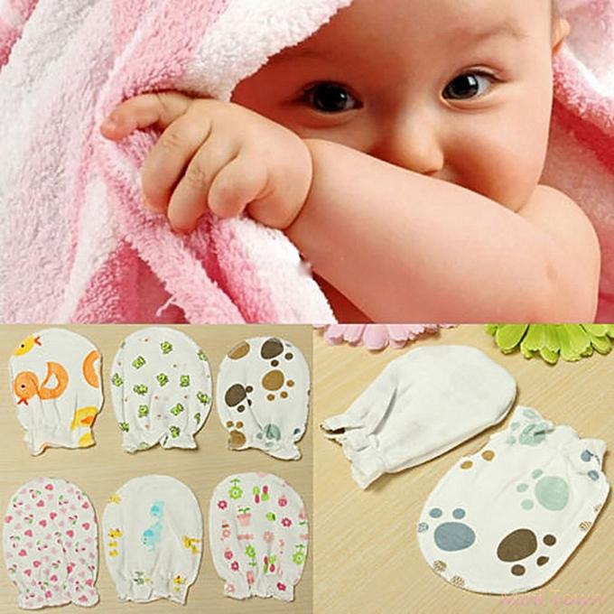 42ef7a206 Sanwood 3 Pairs Soft Newborn Baby Handguard Anti-Scratch Cartoon ...