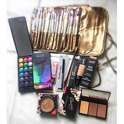 Classic Makeup Makeup Kit With 12 Brushes And Free Makeup Purse