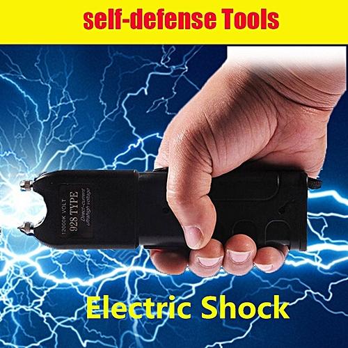 Stun LED Flashlight Electric Shock Baton High Voltage 420000 Shock Flashlight Camping
