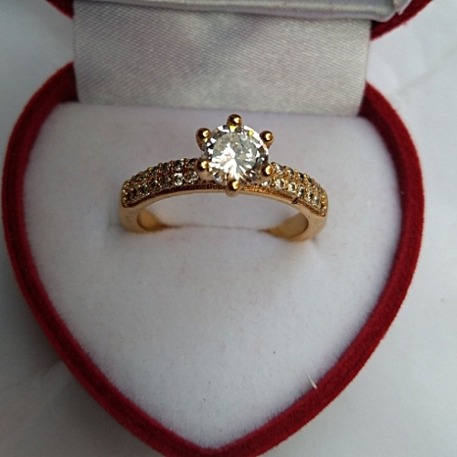 75107f70cbeb Fashion 18 Karat Gold Plated Engagement Ring   Jumia.com.ng