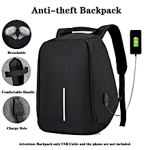 Anti Theft Smart Bag Water Resistant Travel Backpack Laptop Bag With USB Charging Port